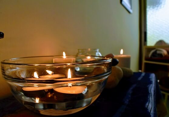 candles for massage